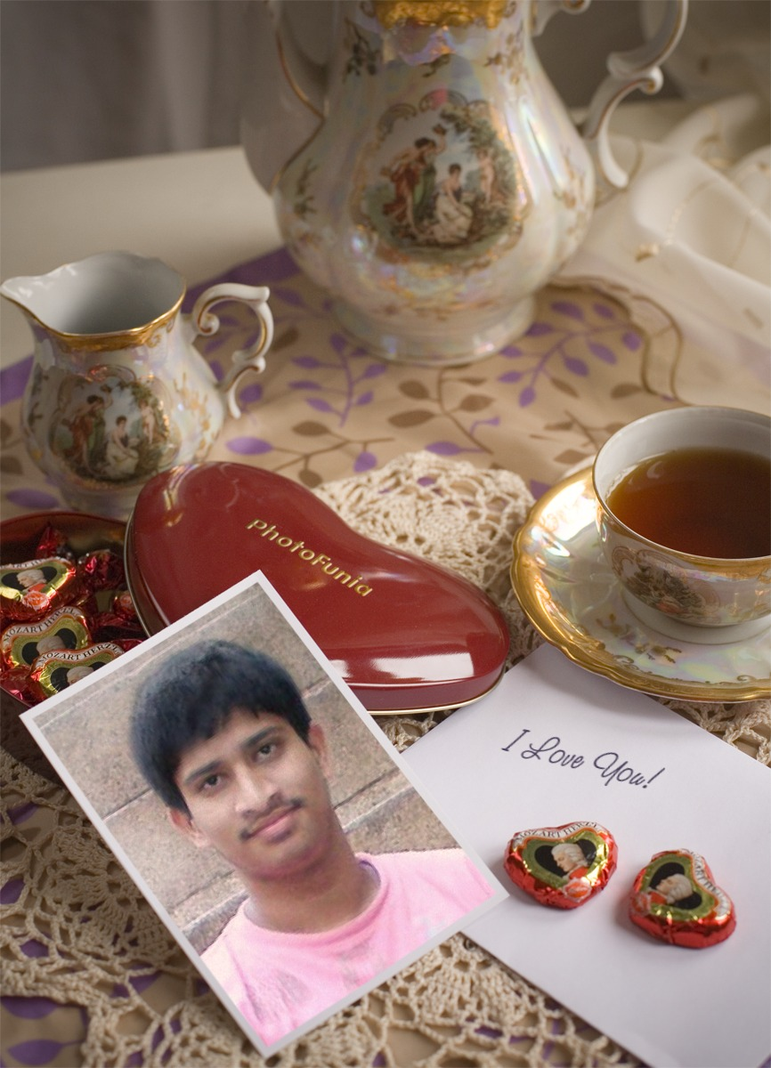 My Pic On The Coffee Table Of a Sweet Girl