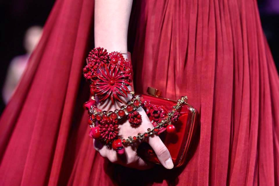 elie saab fall winter 2014-2015 handbbag red