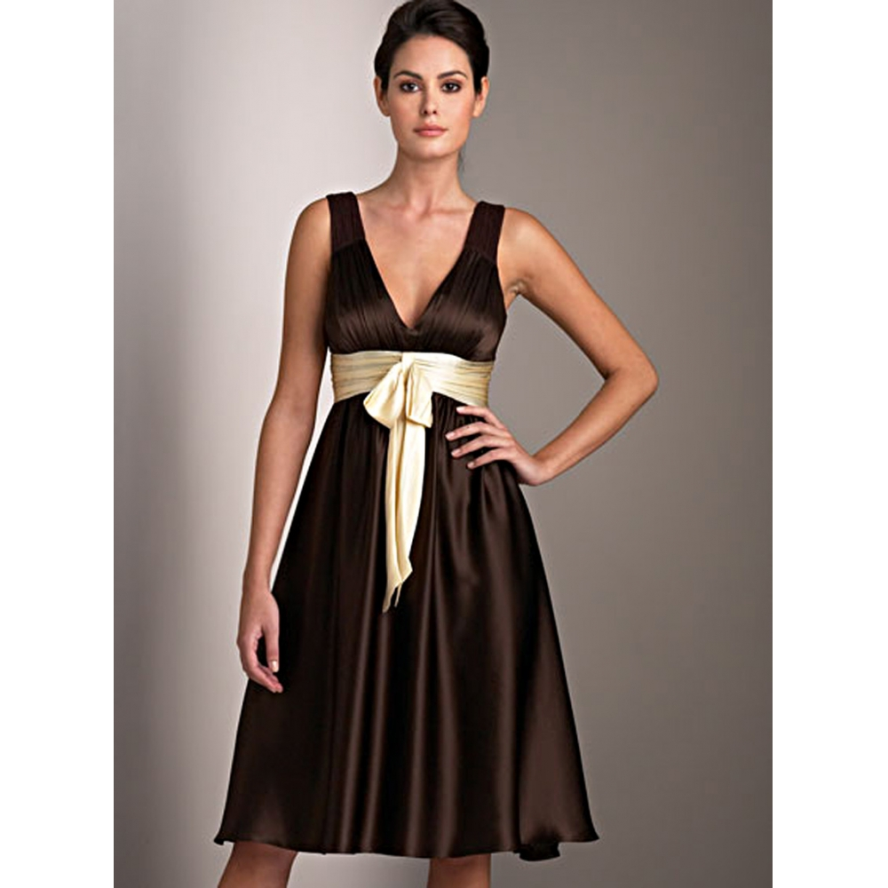 Simple brown dresses designs to birthday party wedding dress for Brown dresses for wedding