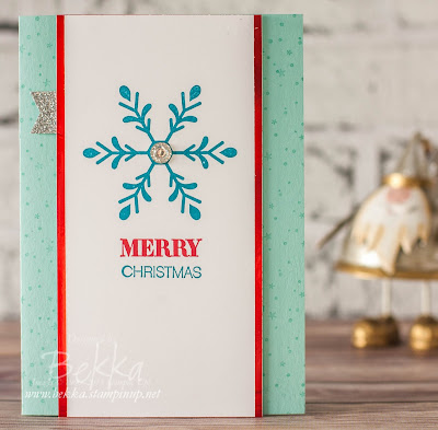 Stylish Fast and Fabulous Snowflake Merry Christmas Card made using supplies from Stampin' Up! UK.  You can get them here