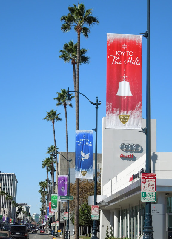 Beverly Hills Joy to Hills Christmas street banners