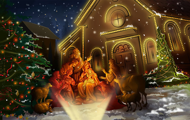 animated christmas jesus cards