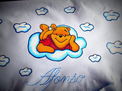 lençol com winnie the pooh pintado