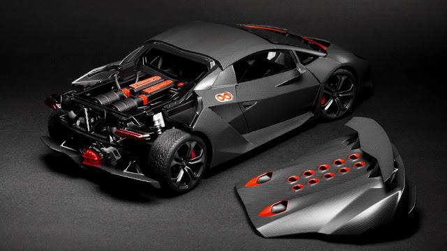 Full HD Wallpaper Lamborghini Sesto Elemento Back