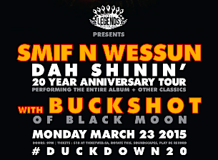 Smif-N-Wessun Dah Shinin' 20th Anniversary @ The Phoenix, March 23