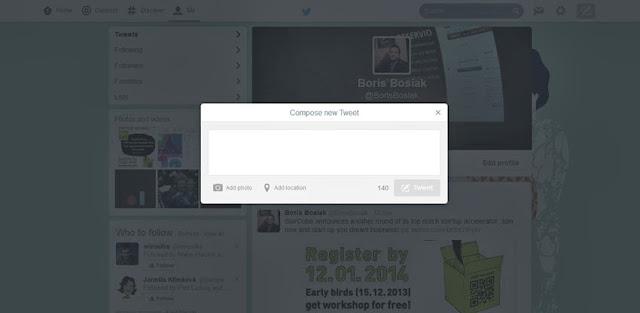 Twitter Menguji RekaBentuk Web Yang Baru dan Lebih Kemas
