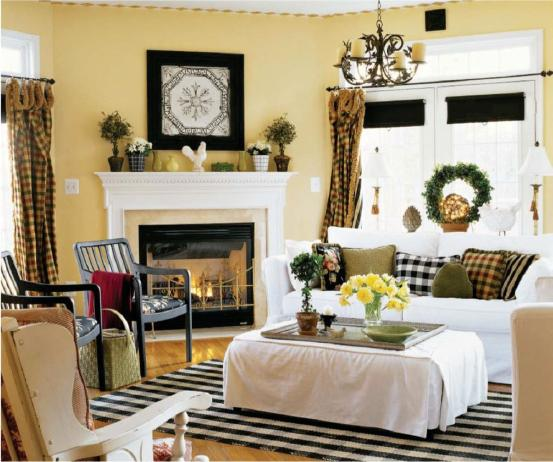Country style living room decor home decorating ideas - Country cottage style living room ideas ...
