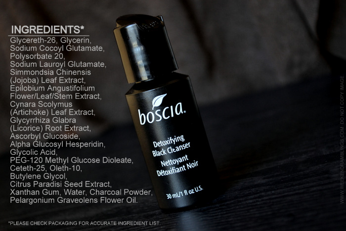 Boscia Detoxifying Black Cleanser Glycolic Acid vitamin c charcoal Face Wash for Oily Skin Review How to Use Ingredients Makeup Beauty Skincare Blog