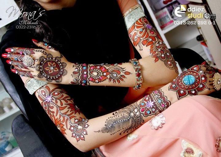 Glittery Mehndi Design
