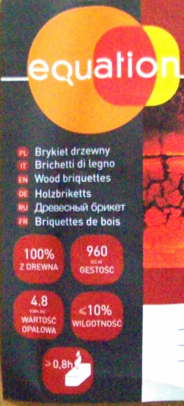 Brykiet Drzewny EQUATION