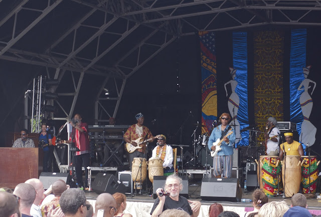 Osibisa on the main stage at the 2013 Lambeth Country SHow, Brockwell Park, Brixton