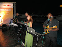 Jazz Quartet performing by the poolside