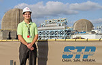 Student internship at a nuclear power plant.
