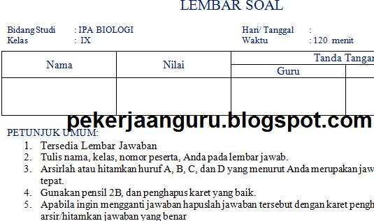Pekerjaan Guru Baru Update Soal Soal Uts Smp Kelas 7 8 9 Semester 1 Ganjil Ktsp Tinggal Download
