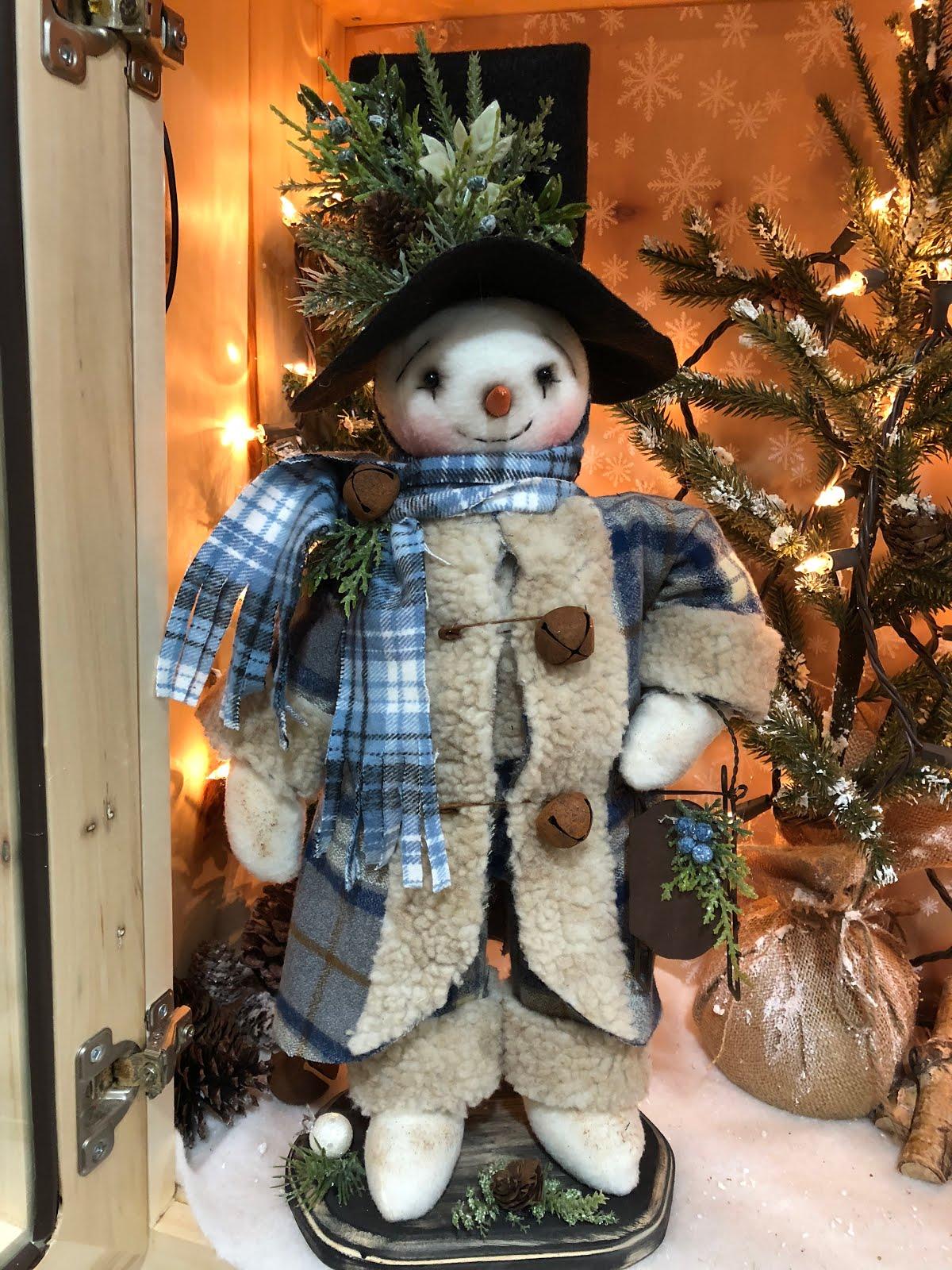 2018 Lets Go Sledding Snowman