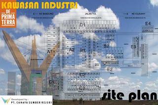 SitePlan Deprimaterra.com kawasan industri dan pergudangan eksklusif