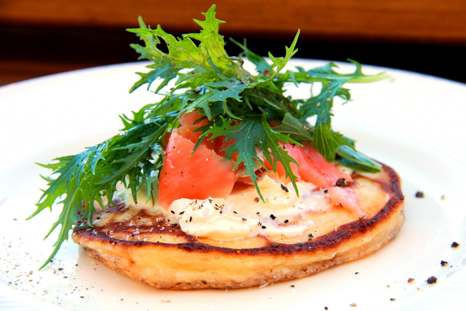 Pancakes with Smoked Salmon and Lemony Creme Fraiche | With Love, Mags ...