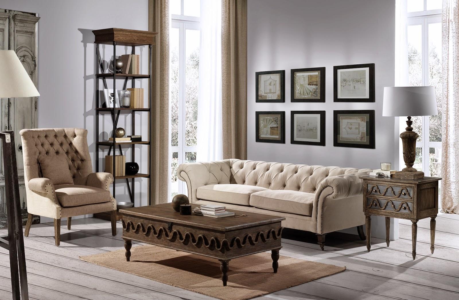 Decoraci n tendencias en estilo cl sico sof s tapizados en capiton para un sal n con mucho - Cuanto cuesta un sillon puff ...