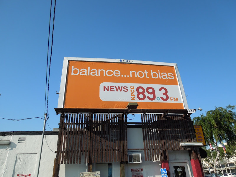 Balance not Bias news billboard
