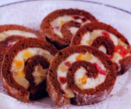 Resep Cake Buah Gulung