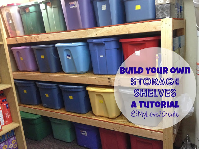 MyLove2Create build your own storage shelves