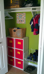 Our hall closet / mudroom