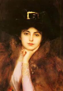 Albert Lynch, Portrait Of An Elegant Ladye