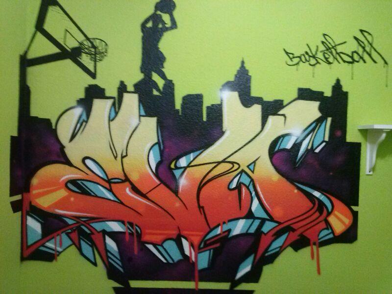 En poner tu nombre en graffiti en tu habitación esta es tu página