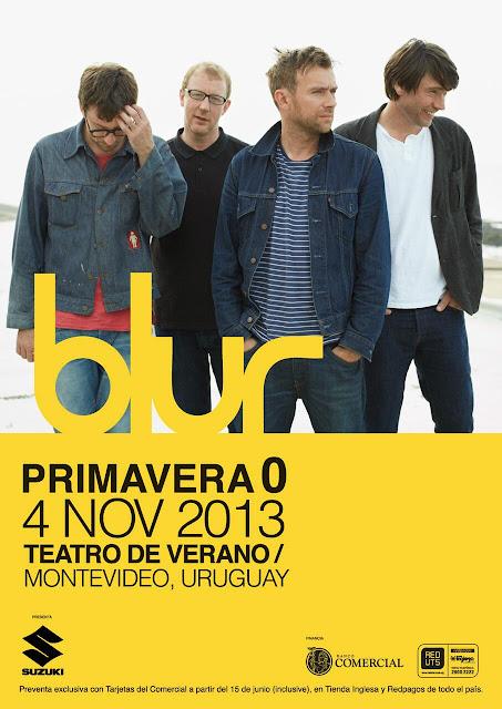 blur 2013, blur montevideo, blur south america, blur south american tour 2013, blur tocará en Montevideo, blur uruguay, blur uruguay concert, Primavera Cero blur,