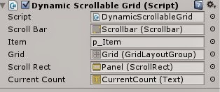 Dynamic grid in Unity3d 4.6UI