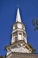 Steeple of the Martha Mary Chapel at Greenfield Village