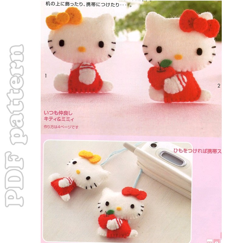 Beaded Hello Kitty Version 2 (Diagrams) Pattern by Lucy