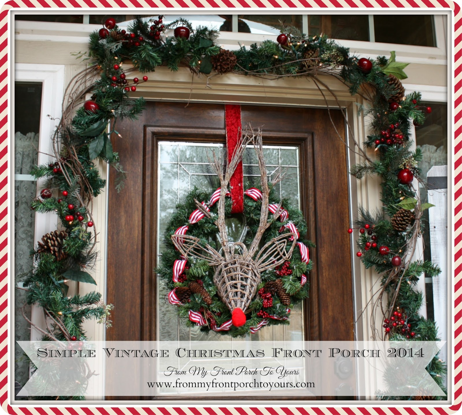 Christmas Front Porch from my front porch to yours: simple vintage christmas front porch