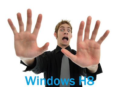 Man showing hate gesture for Windows H8: Intelligent Computing