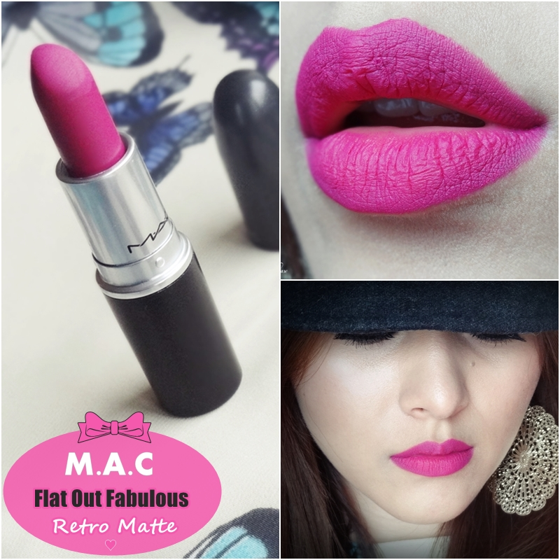 Molto Indian Vanity Case: MAC Flat Out Fabulous Retro Matte Lipstick  JT75