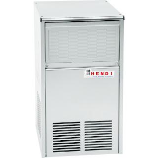 Aparat pentru cuburi de gheata tip Hendi 'M-20W'. sitem de injectare a aerului rece, capacitate de 23 kg la 24 ore, depozit gheata de 8 kg, consum de apa  4 litri/h, picioare ajustabile 390x500x(H)685 mm 340 W 230 V