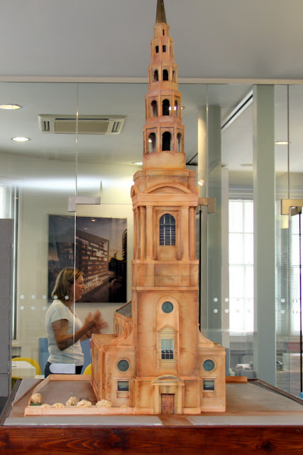 St Bride's Church Cake on Display