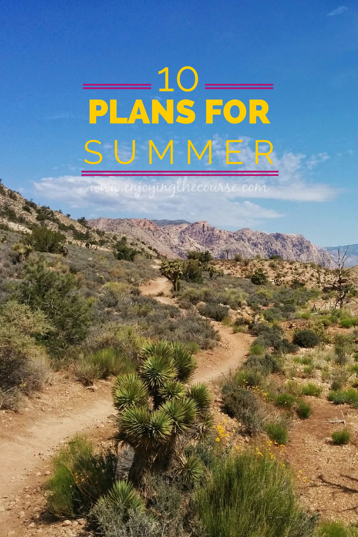 10 Plans for Summer | enjoyingthecourse.com