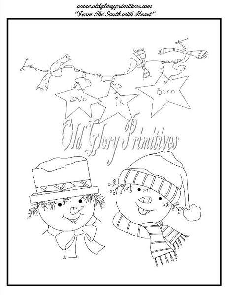Free Christmas Redwork Designs