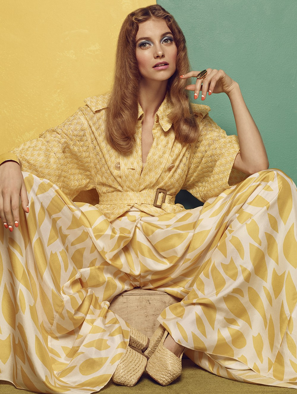 Chic Anni 70s 39 Iris Van Berne By Hong Jang Hyun For Glamour Germany March 2015 Visual