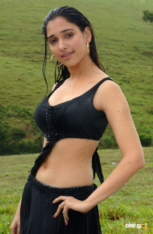 Tamanna Hot Wet Body In Black Sexy dress - Kollywood Tamil Movies Events ...