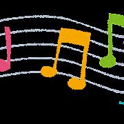 音楽のイラスト「五線譜と音符」