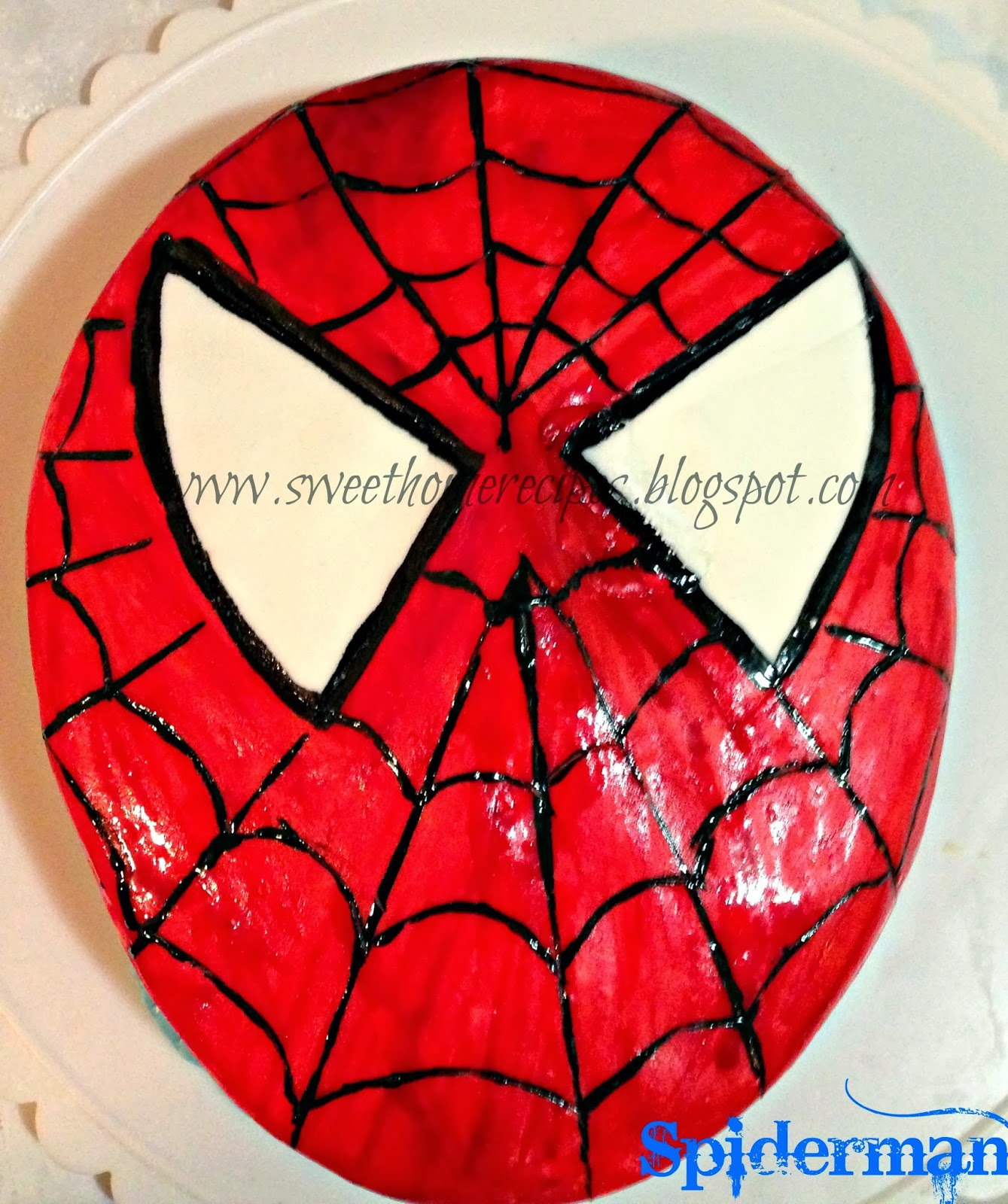 Spiderman face template for Spiderman template for cake