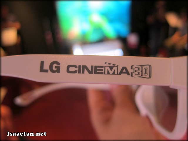 Using these nifty LG Cinema 3D glasses, everything jumps out at you through the screen!