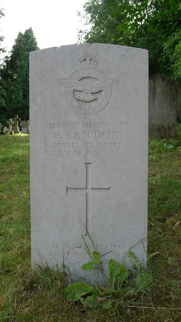 The grave of 2nd Lt. E.P.J. Touche, RAF