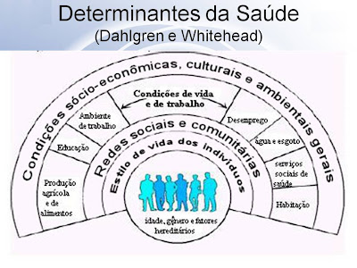 Determinantes da Saúde - Dahlgren e Whitehead - Fonte:Jairnilson Silva Paim