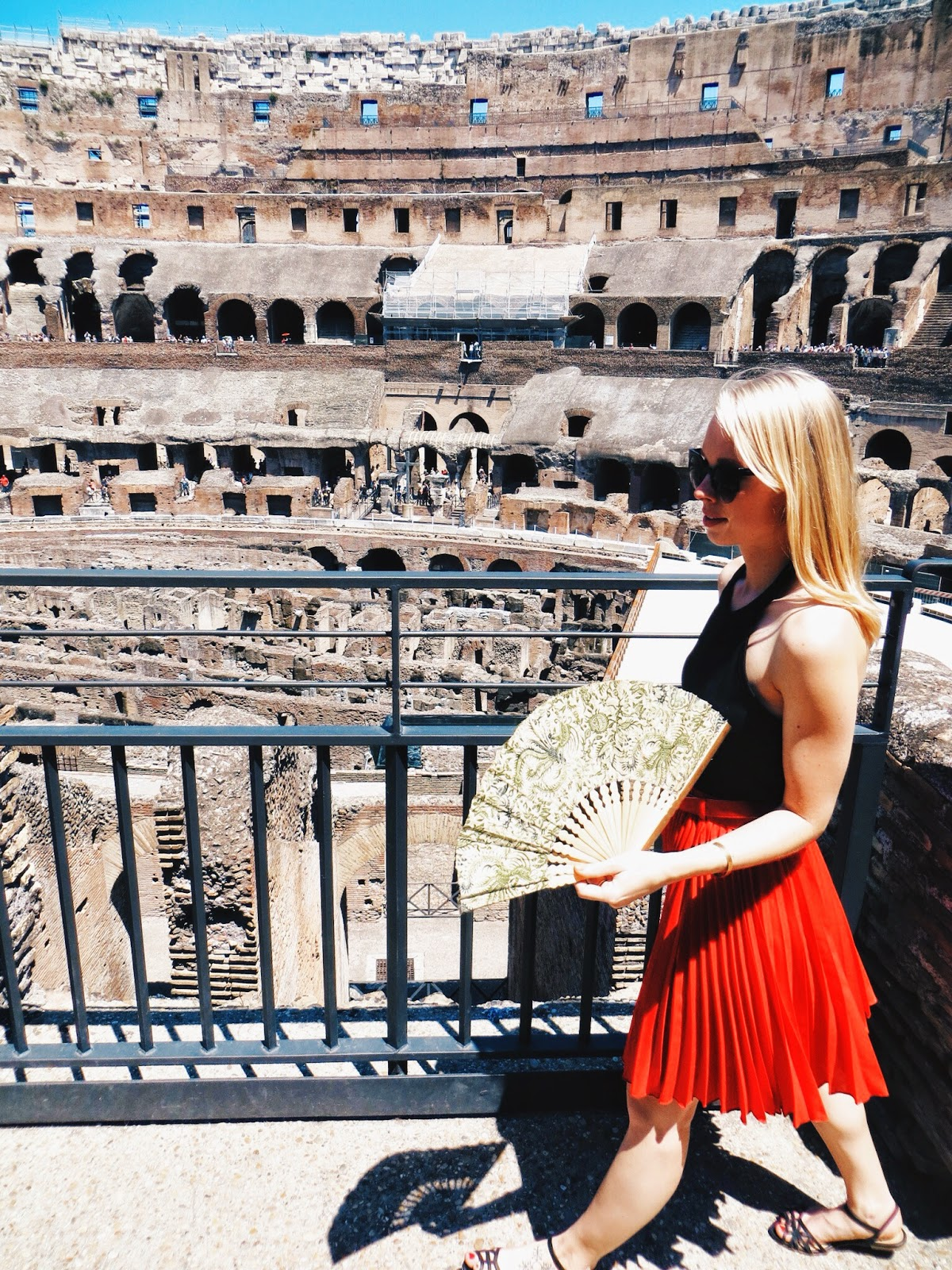 roman holiday, rome, italy, summer vacation, rome travel tips, travel blogger, fashion blogger, deb halter crop top, chic wish pleated skirt, deb shops cutout flat sandals