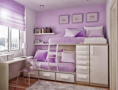 Ddesain ruang tidur mungil