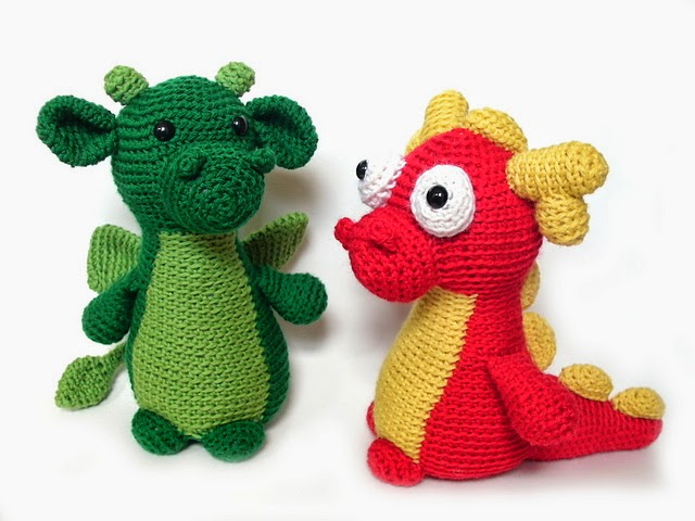 Free Knitted Crochet African Flower Pattern Dragon : Knot Your Nanas Crochet: Smaug the African Flower Dragon ...
