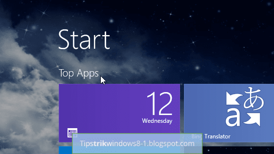 Cara Membuat dan Menamai Grup di Start Screen Windows 8.1